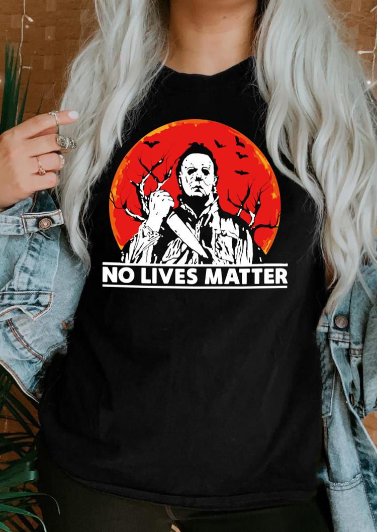 Halloween No Lives Matter T-ShirtTee - Black