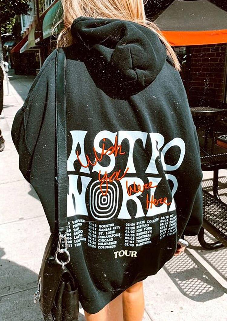 Astroworld Long Sleeve Pullover Hoodie - Dark Green