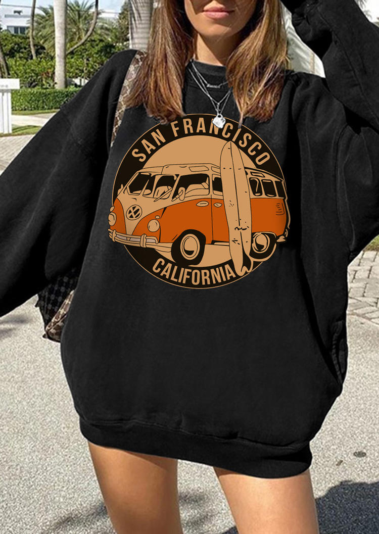 California San Francisco LongSleeve Sweatshirt - Black