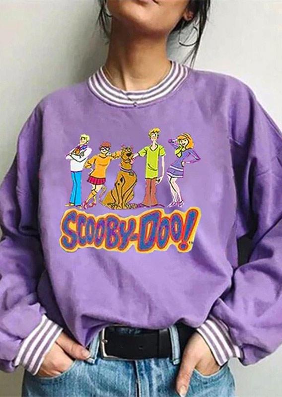 Scooby Doo Striped LongSleeve Sweatshirt - Purple