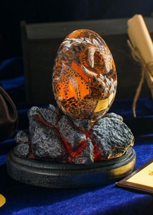Lava Resin  Decor Dinosaur Dragon Egg without Base
