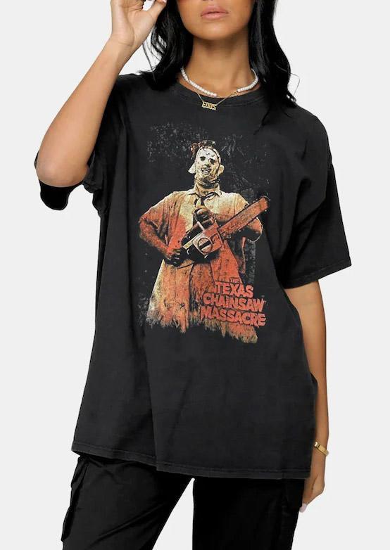 Halloween Texas Chainsaw Massacre T-ShirtTee - Black