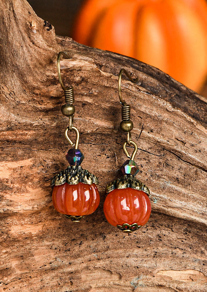 Thanksgiving Pumpkin Pendant Earrings