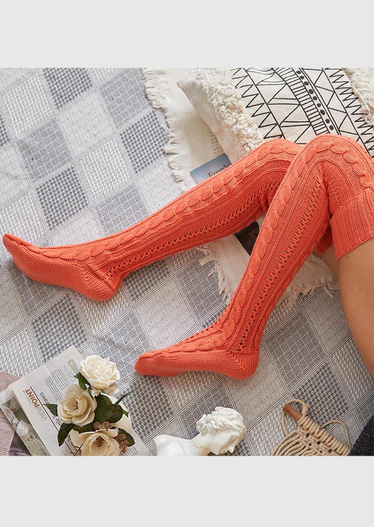 Crochet Over Knee Knitted Warm Socks