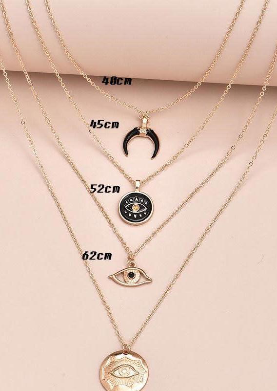 Moon Eye Multi-Layered Necklace
