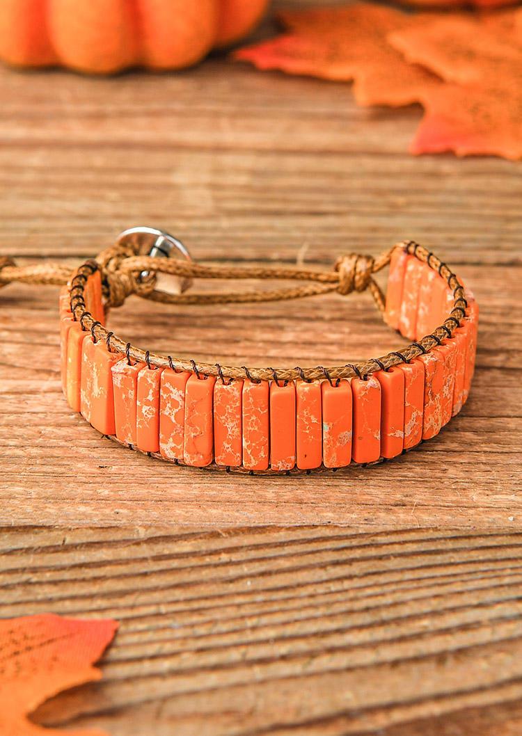 Tree Of Life Stone Beaded Wrap Bracelet