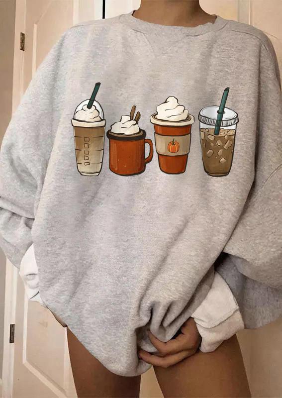 Coffee latte LongSleeve Sweatshirt - Gray