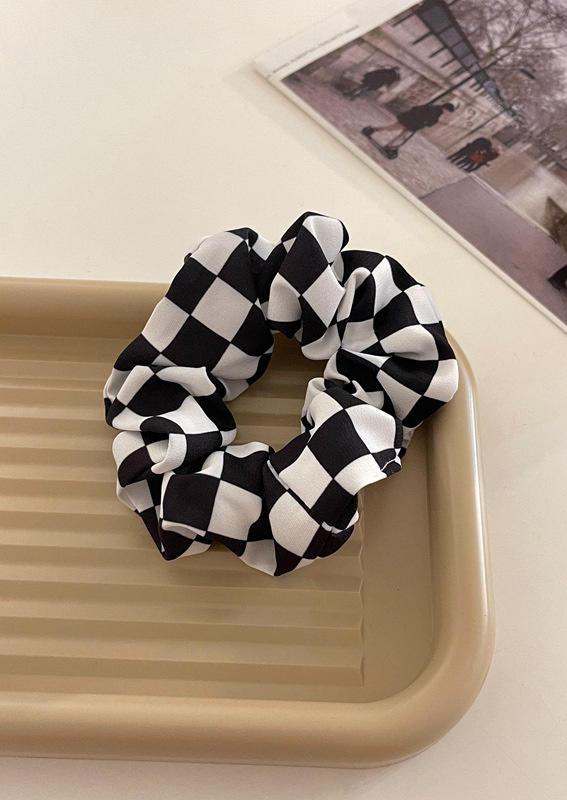 Checkerboard Plaid Fashion Hair Tie