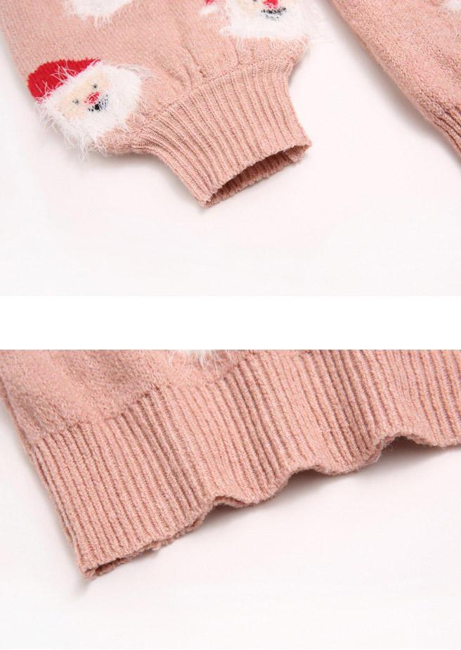 Christmas Santa Claus Sweater - Pink