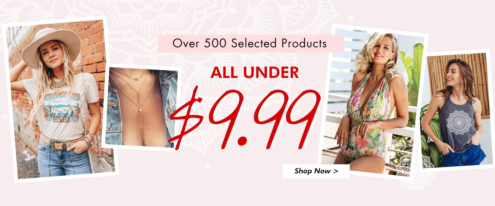 Shop Under $9.9